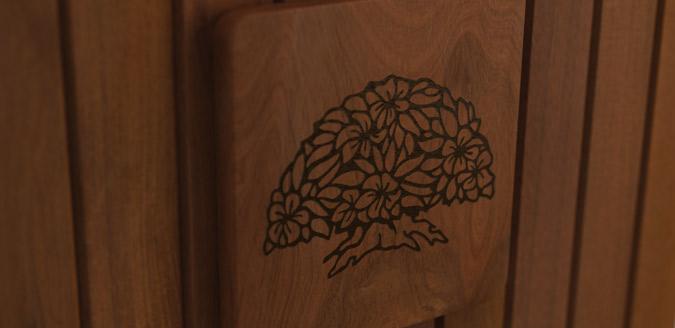 laser engraved logo