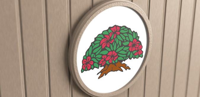 overlay plaque logo