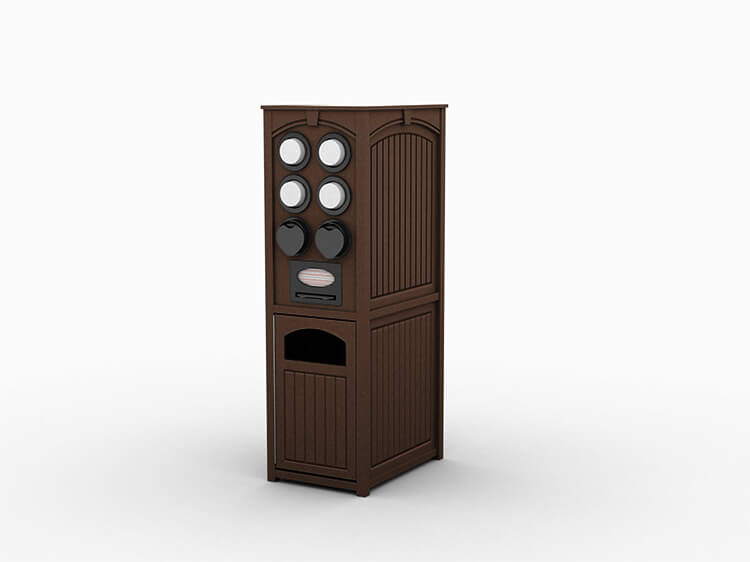 Modified Keystone Nu™ Cooler & Waste Station