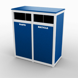 la-playa-double-front-load-recycling-bin