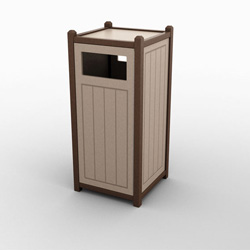 Single Front Load Great Lakes Waste & Recycling Bin