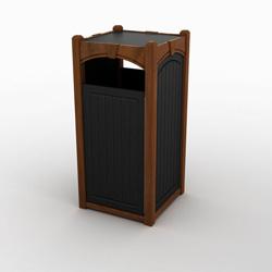Single Front Load Keystone Waste & Recycling Bin