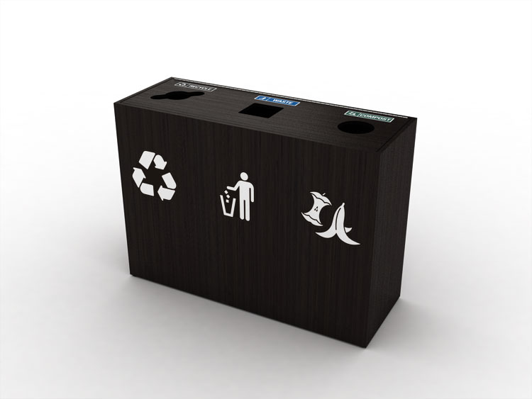 premier-triple-top-load-waste-recycling-bin