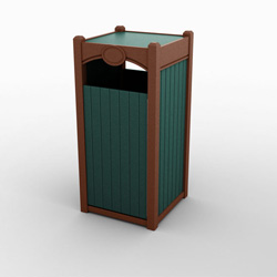 Single Front Load Tribute Waste & Recycling Bin