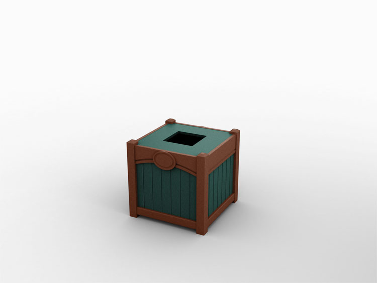 single-top-load-tribute-waste-recycling-bin