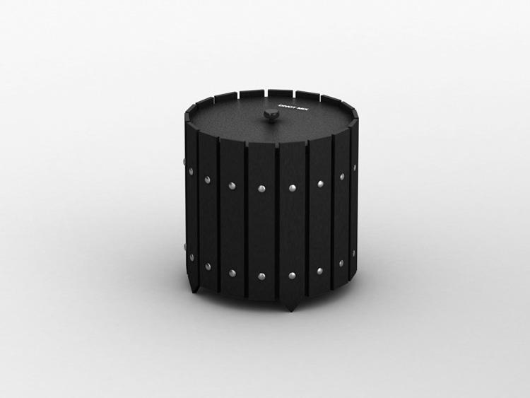 Round Divot Mix Storage