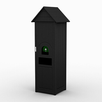 Black Great Lakes Small Water Cooler And Waste Station